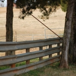 Used guardrail works great in long span runs – put it up and its there for a LONG, long time. One fella even told us that he puts his posts 25 feet apart – and that he's never had a problem with it!