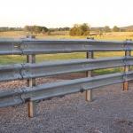 I Beam Post and Guardrail
