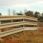 In order to match the strength of a 6 inch solid, galvanized I-beam, you have to consider a post like this. But, will they last as long? The installation time takes longer for wood over our I-beam.