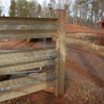 Super versatile material – gate meets guardrail fence meets post.