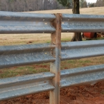 We've heard folks say that their cattle might try to ram the guardrail – but after they tangle with guardrail ONE time. After that, the cow doesn't try again.