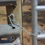 Guardrail works well with so many other components, such as this small gate latch.