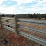 One of the many cattle fences we've installed