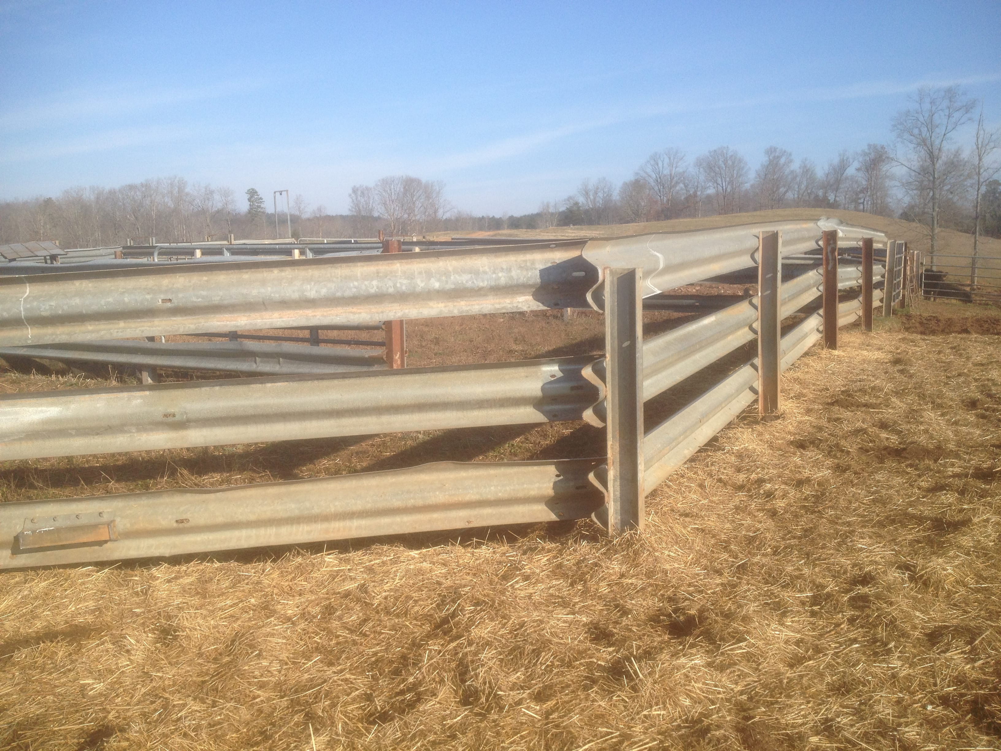 I Beams are perfect for Corrals, Chutes, Windbreaks and Feedlots