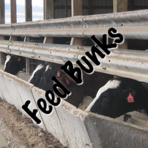 W-Beam Guardrail for Feed Bunks