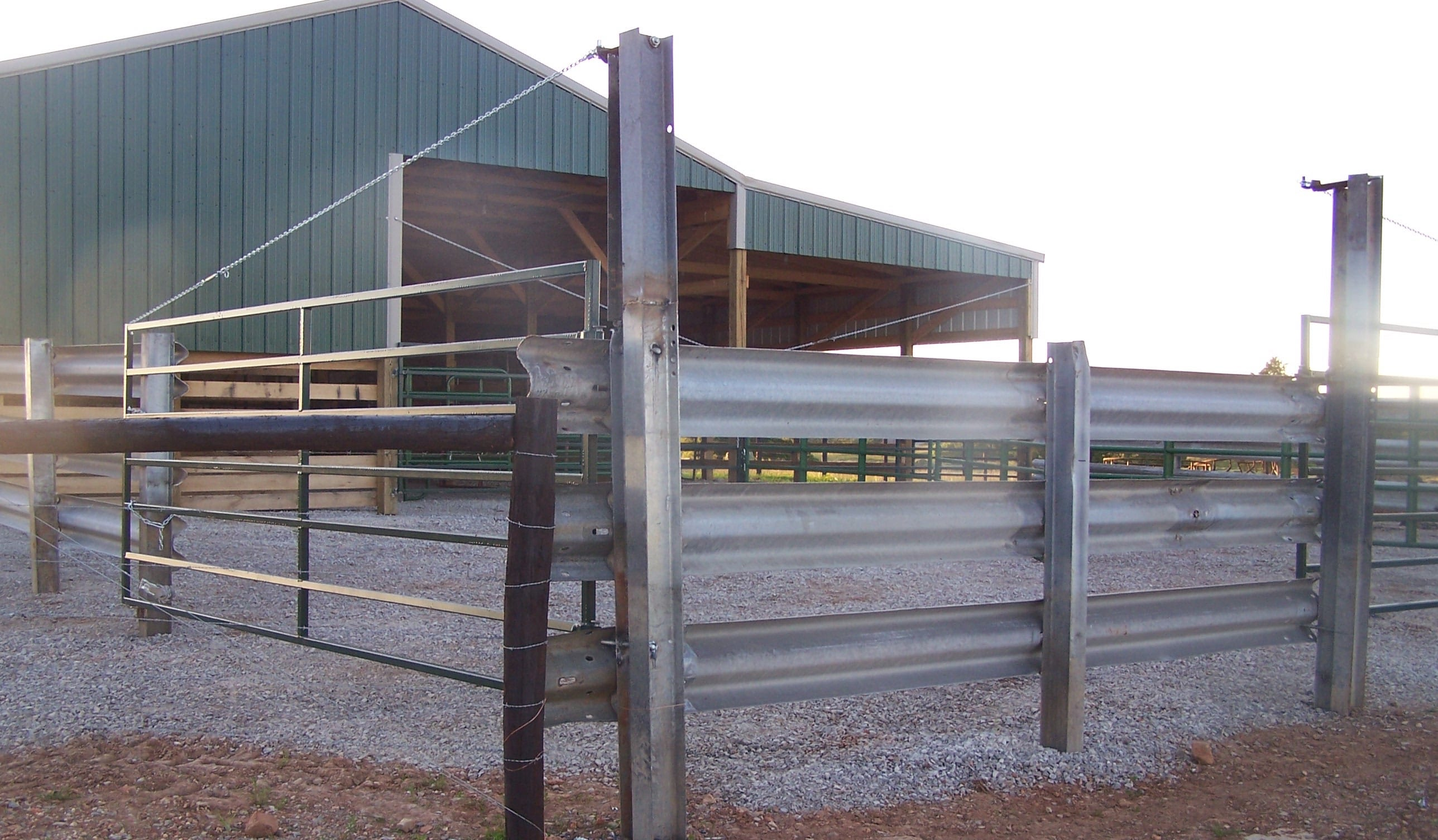 Guardrail Corral owns to patent on Resectioned I-Beam Post