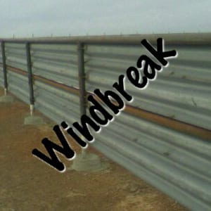 Windbreaks built by W-Beam Guardrail