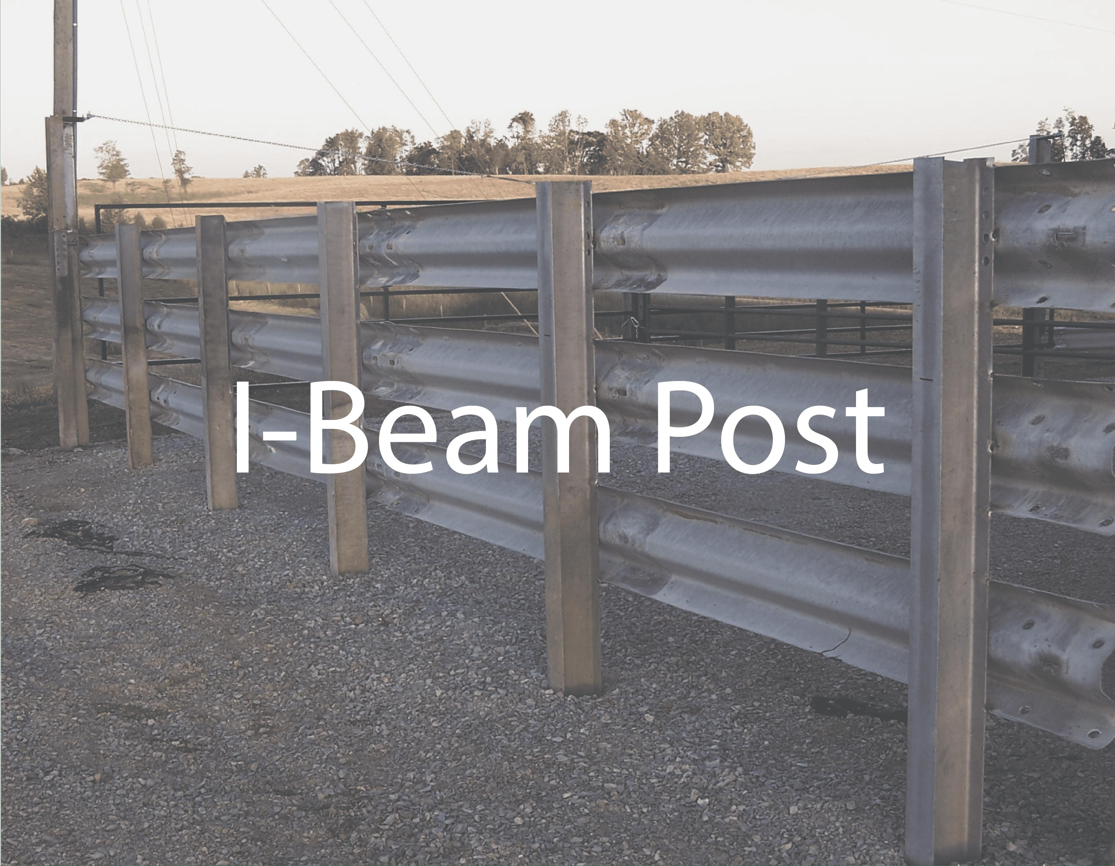 I-Beam Post for Guardrail